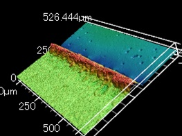 レーザー顕微鏡プロファイル